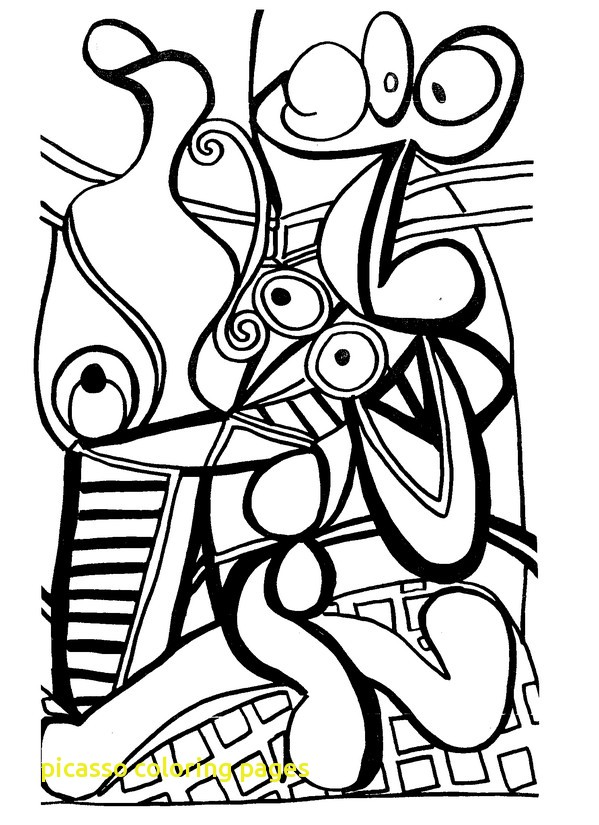 599x825 Picasso Coloring Pages With Adult Coloring Pages Picasso
