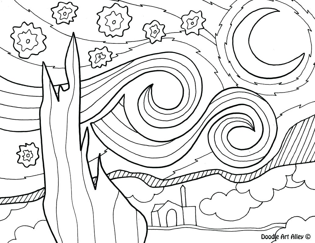 1035x800 Printable Picasso Coloring Pages Artist Doodle Art Alley Picture
