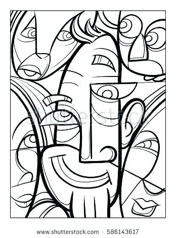 Picasso Coloring Pages At Getdrawings Free Download