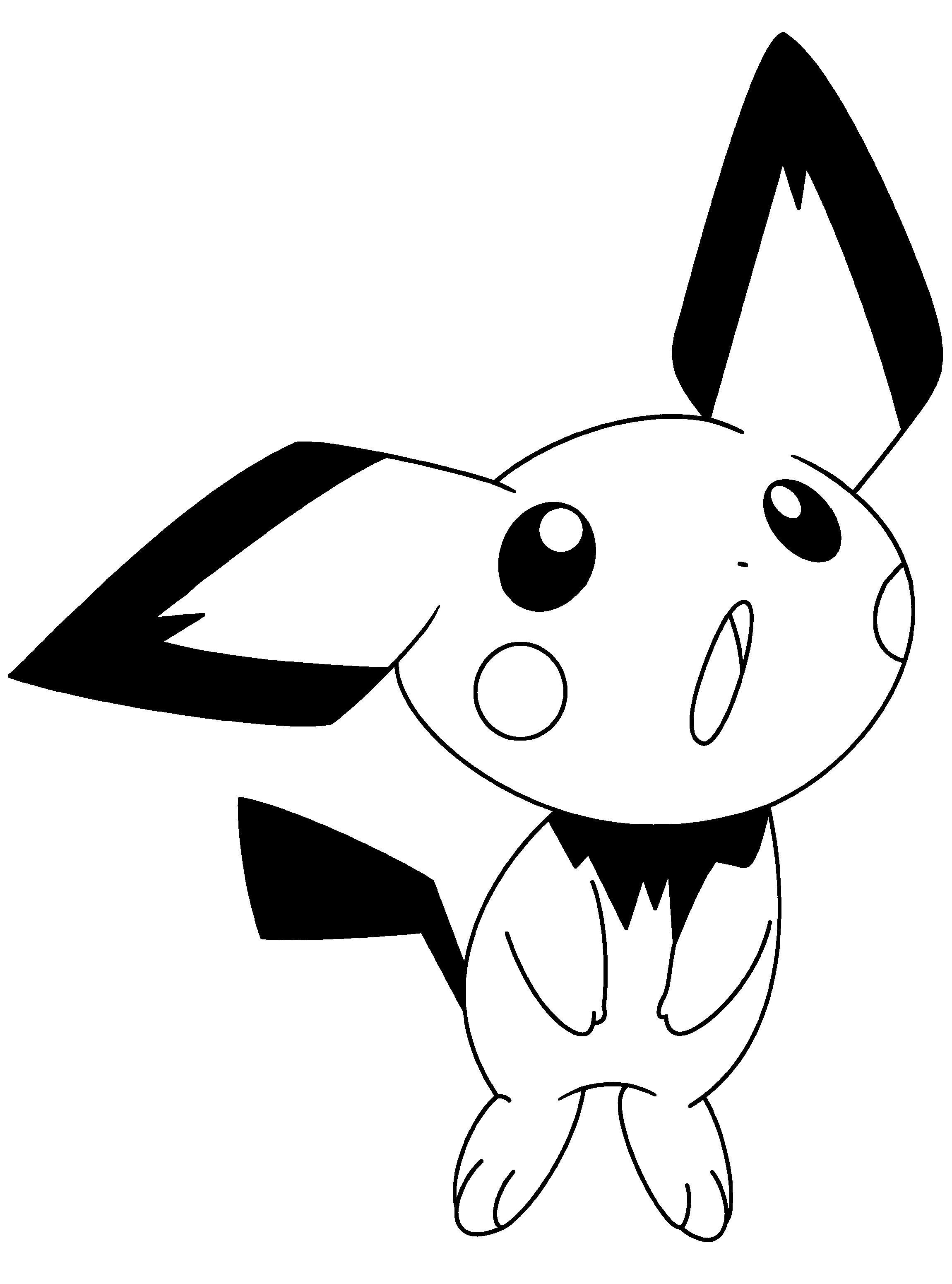 Pichu Coloring Pages At Getdrawings Com Free For Personal Use