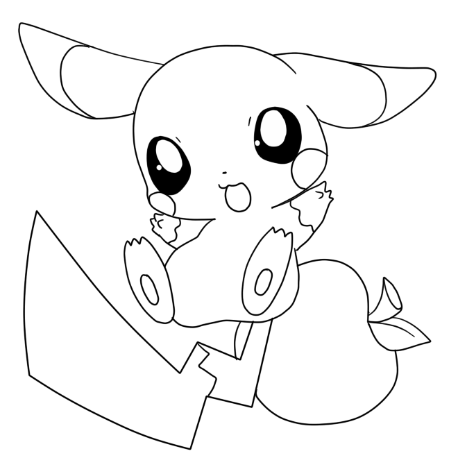 Pichu Pokemon Coloring Pages At Getdrawings Com Free For Personal