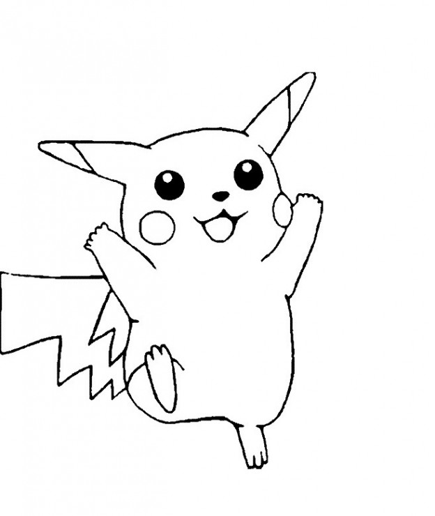 624x740 Pikachu Coloring Pages, Ash And Pikachu S Coloring