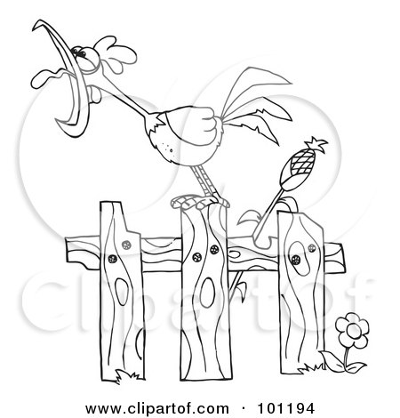 450x470 Farm Fence Coloring Pages