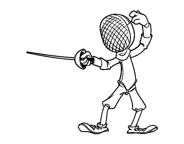 600x470 Fencing Coloring Pages