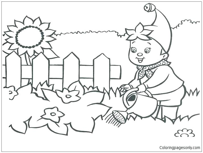 713x538 Flower Garden Coloring Pages