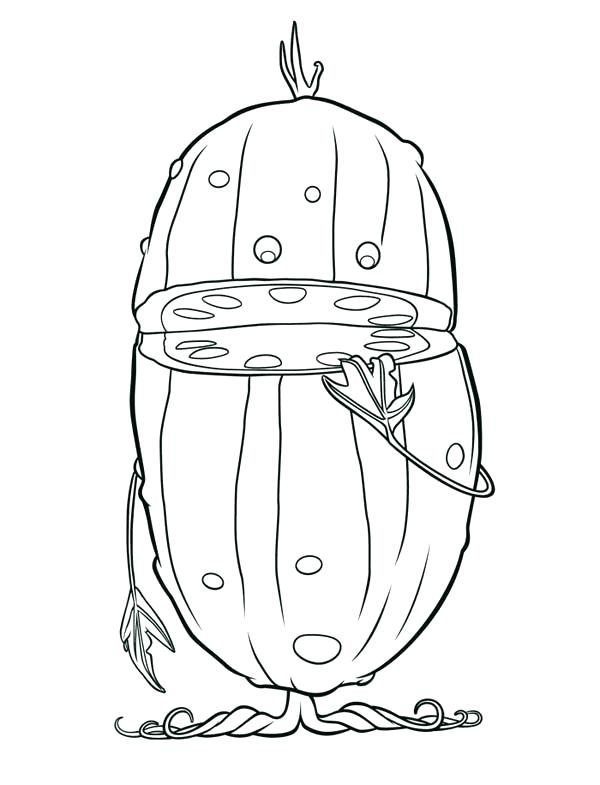 600x785 Pickle Coloring Page Cloudy With A Chance Of Meatballs Alive