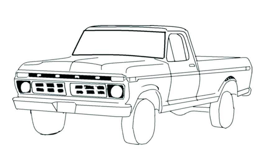 850x510 Old Truck Coloring Pages Old Truck Coloring Pages Truck Coloring