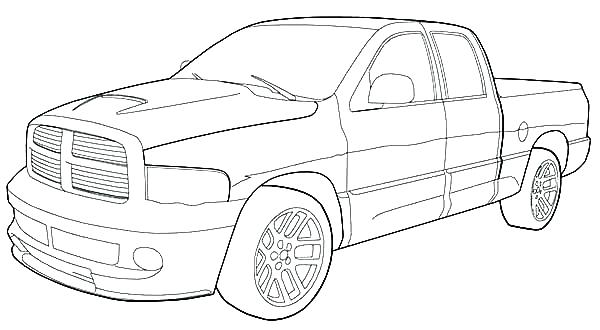 600x330 Pickup Truck Coloring Pages Plus Dodge Colouring Book