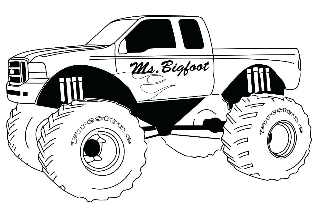 1024x679 Pick Up Truck Coloring Pages