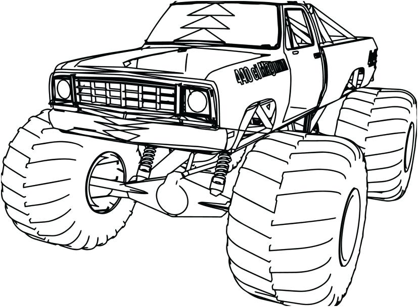 827x609 Ram Truck Coloring Pages Professional