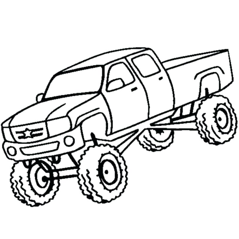 816x816 Monster Truck Coloring Pages To Print Big Trucks Coloring Pages