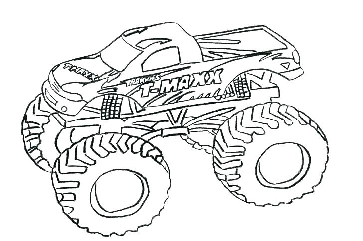 728x484 Monster Trucks Coloring Pages Best Grave Digger Monster Truck