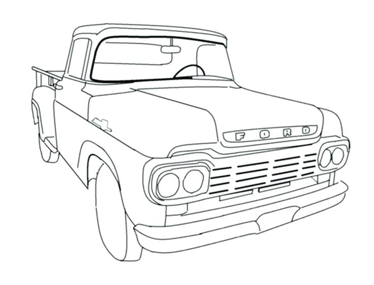 736x561 Old Truck Coloring Pages Pickup Truck Coloring Pages Old Truck