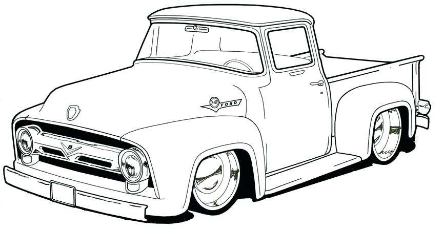 866x449 Pickup Truck Coloring Pages Old Truck Coloring Es Adult Truck