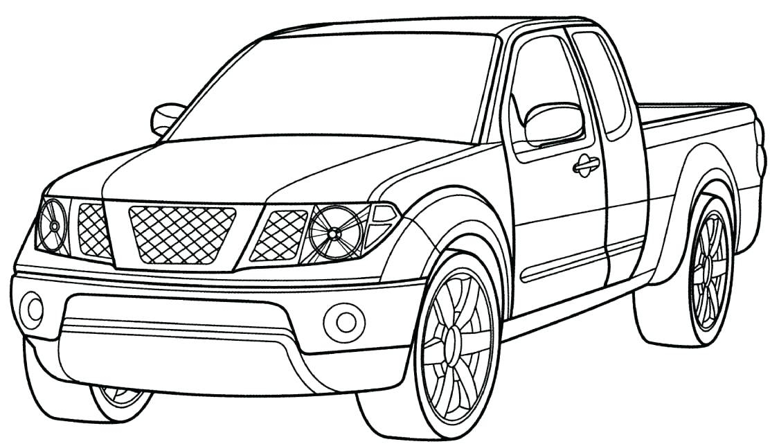 1112x641 Pickup Truck Coloring Pages Truck Coloring Page Free Printable