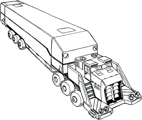 600x505 Semi Truck Coloring Pages Also Big Trucks Coloring Pages Pickup
