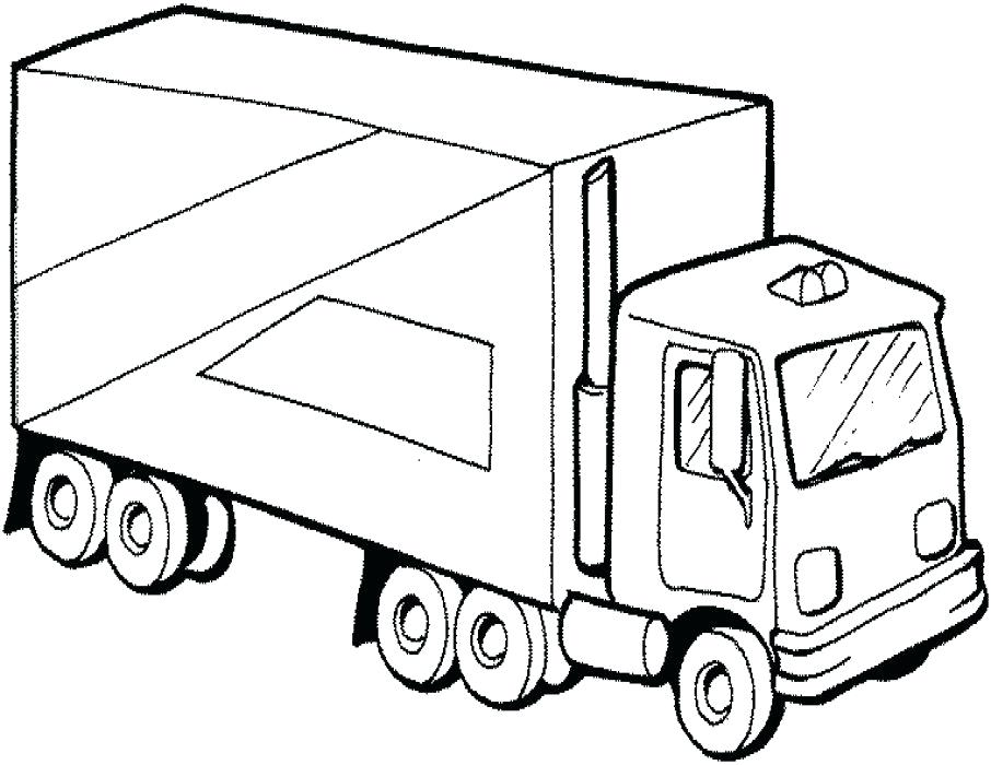 906x700 Truck Picture To Color Garbage Truck Coloring Pages Online