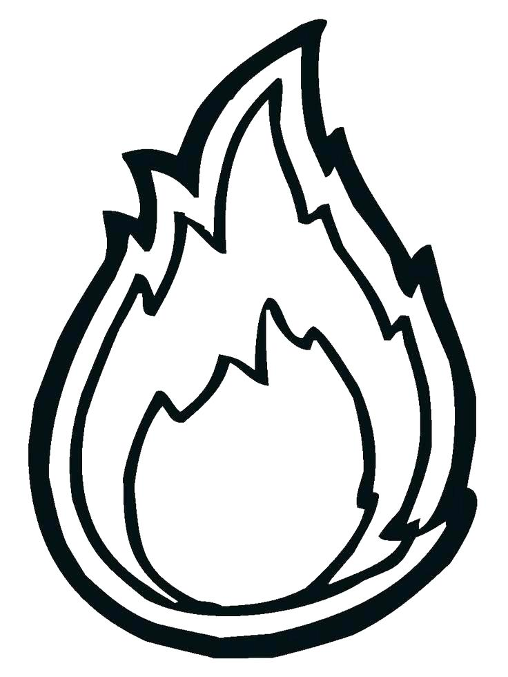 736x980 Flames Coloring Pages