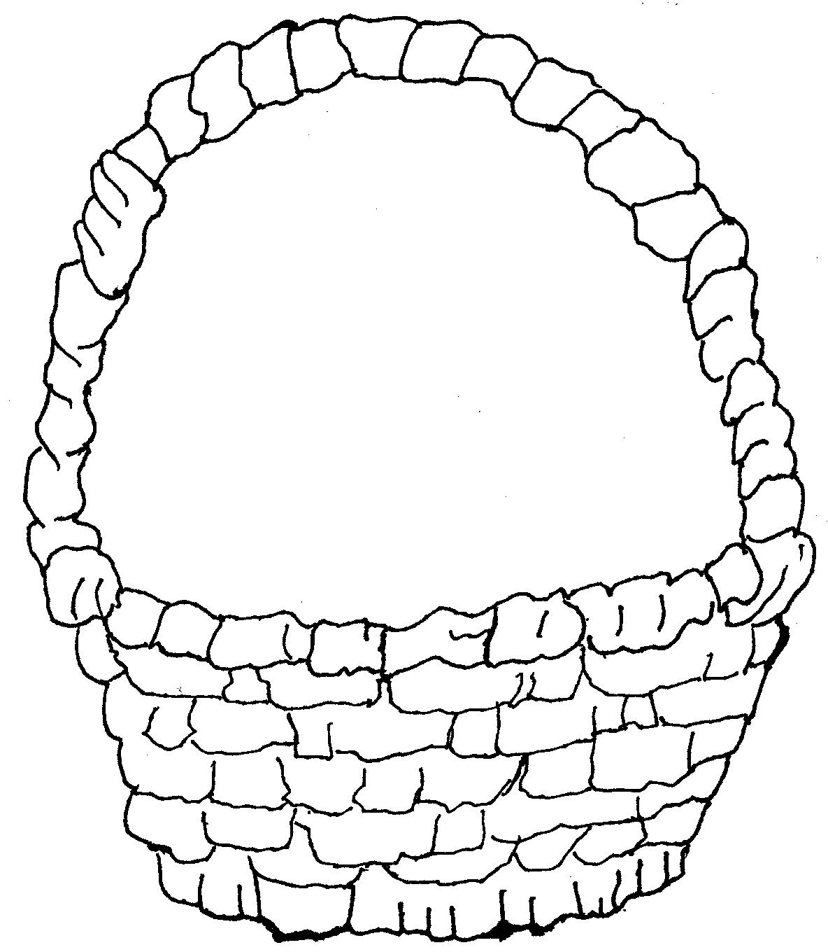 1184x1360 Basket Coloring Page
