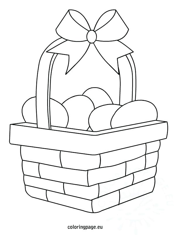 595x804 Egg Basket Coloring Page Egg Basket Coloring Picnic Basket Food