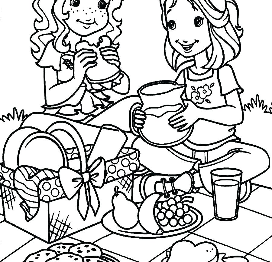 900x864 Picnic Basket Coloring Page Coloring For Kids Free Printable