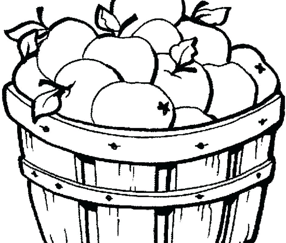 940x800 Printable Picnic Basket Coloring Page Free Apple Pages For Toddler