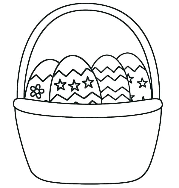 600x628 Basket Coloring Page Egg Basket Coloring Page Printable Picnic