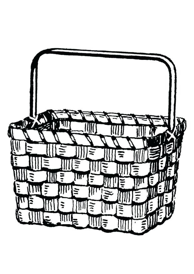 620x875 Basket Coloring Page Picnic Basket Coloring Page Kids Themed