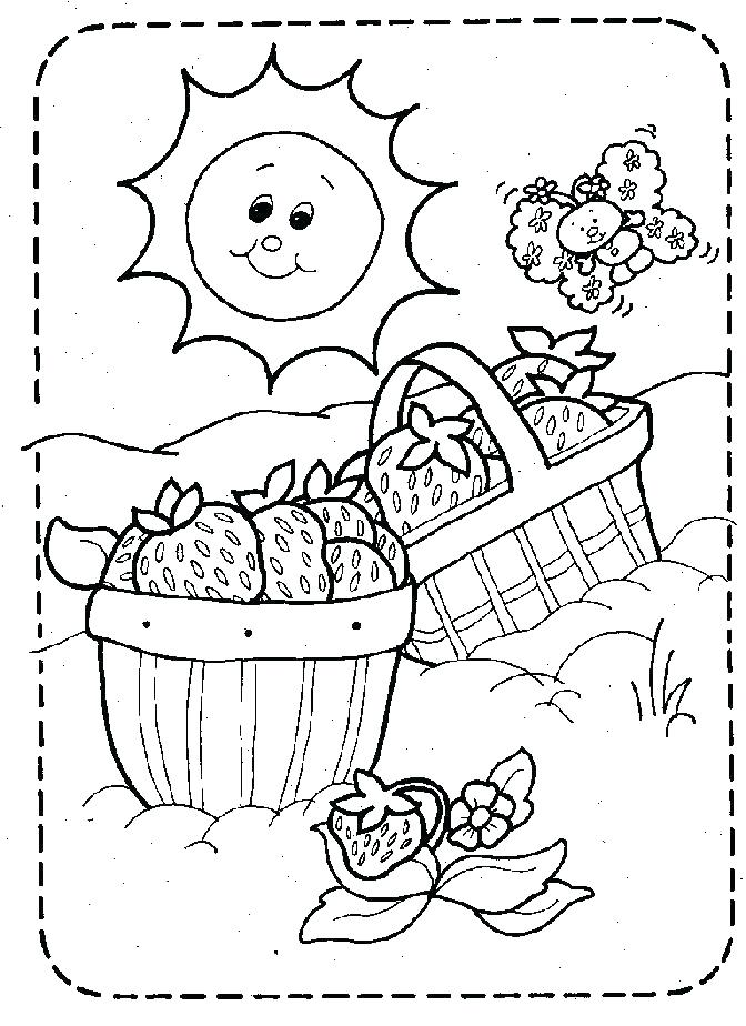 672x924 Picnic Basket Coloring Page Color Book Picnic Basket Coloring Page