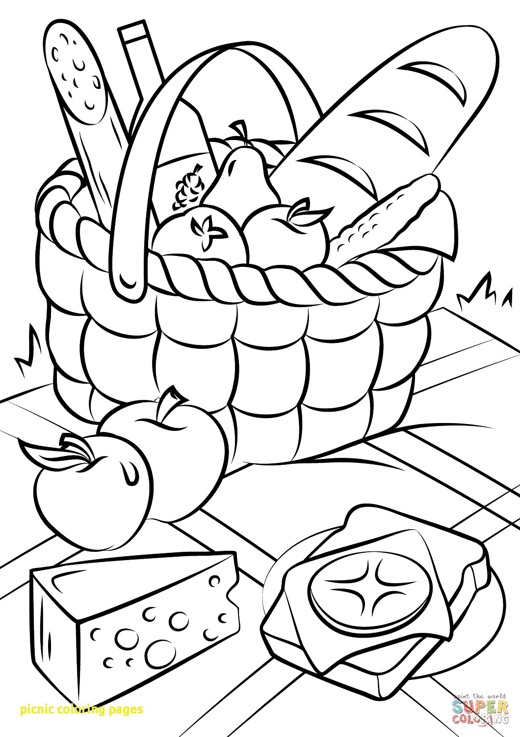 1060x1500 Picnic Coloring Page