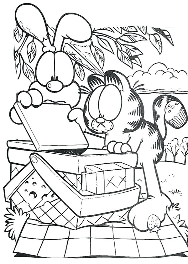 600x842 Picnic Coloring Page And Open Picnic Basket Coloring Page Family