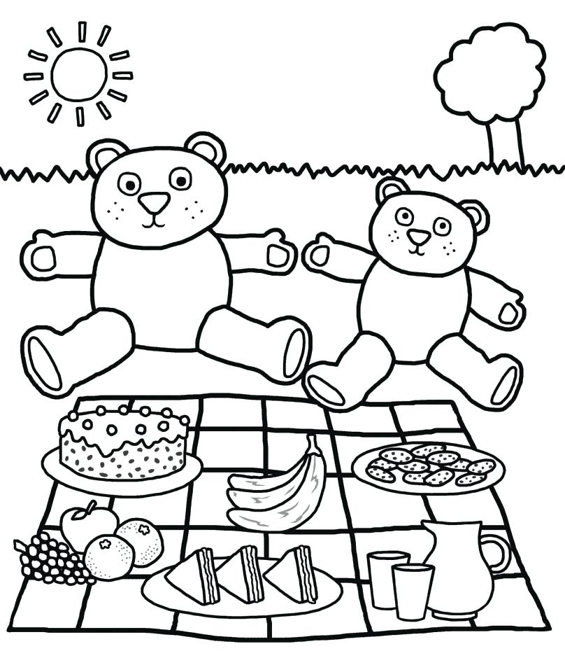 808x960 Picnic Coloring Page Picnic Coloring Pages Picnic Blanket Coloring
