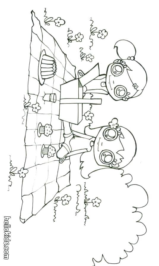 536x900 Picnic Coloring Page Summer Picnic Coloring Page Picnic Basket
