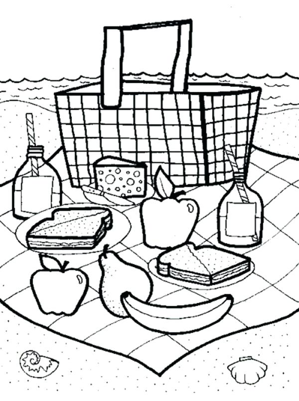 600x804 Picnic Coloring Pages Picnic Coloring Page Picnic Coloring Pages