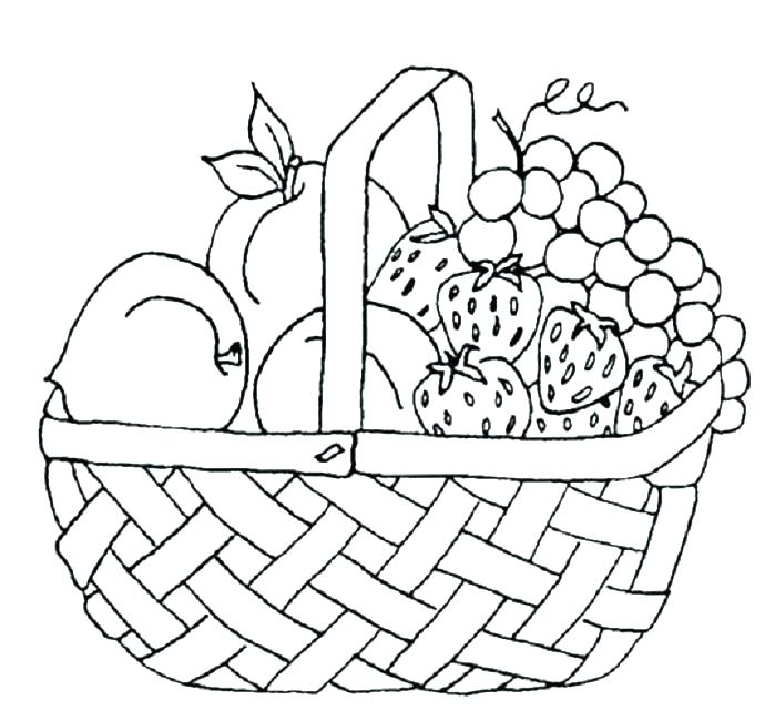 699x650 Basket Coloring Page Free Fruit Coloring Pages Free Printable