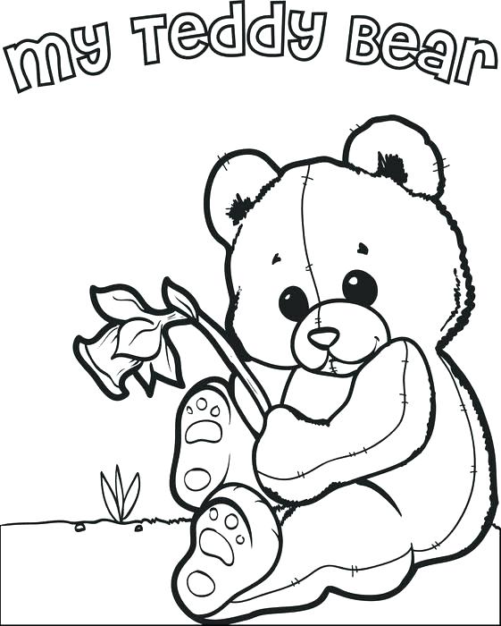 561x700 Picnic Coloring Page Cute Teddy Bear Coloring Pages Cute Teddy