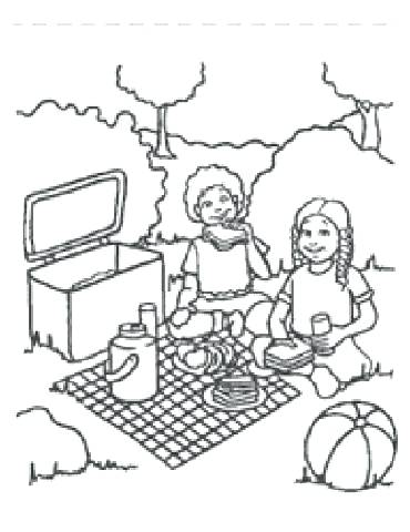 370x480 Picnic Coloring Pages Picnic Coloring Pages Free Printable Picnic