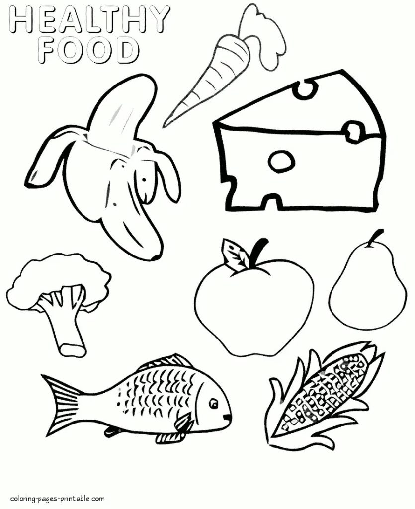 835x1024 Picnic Food Coloring Pages Preschool Nutrition And Pack For A Page