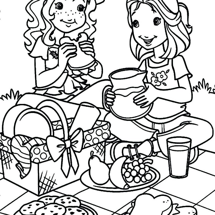 900x900 Coloring For Kids Pages Picnic Preschool Pagesprintable Of Family