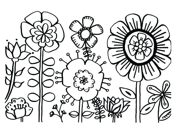 600x463 Images Of Coloring Pages Of Flowers Deepart