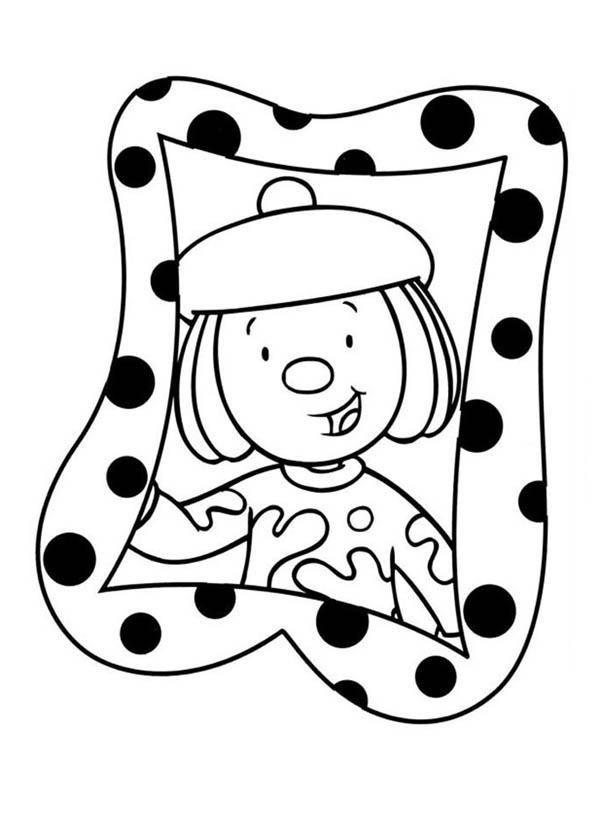 600x834 Jojo's Photo In Frame In Jojo's Circus Coloring Page