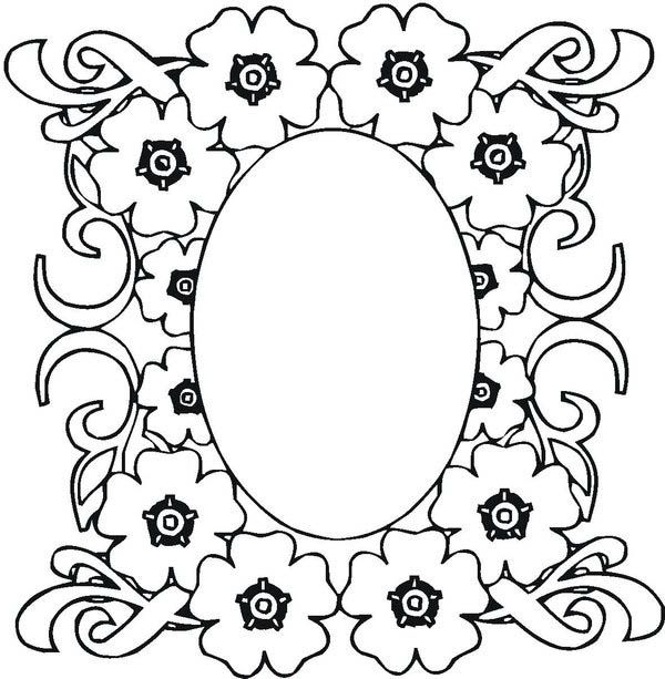 600x613 Mosaic, Mosaic Of Flower Frame Coloring Page Mosaic Of Flower
