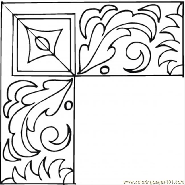 650x650 Nice Frame Coloring Page