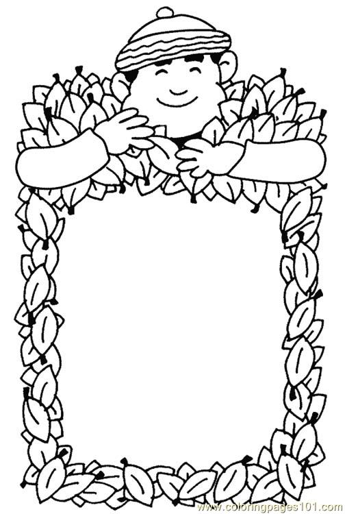 504x750 Autumn Frame Coloring Page