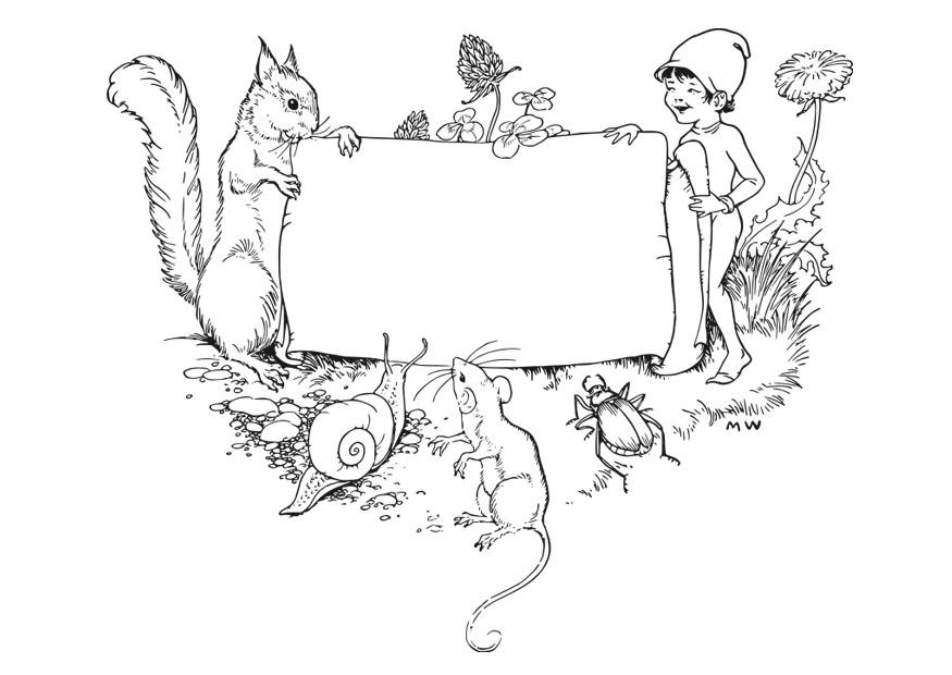 875x620 Coloring Page Frame