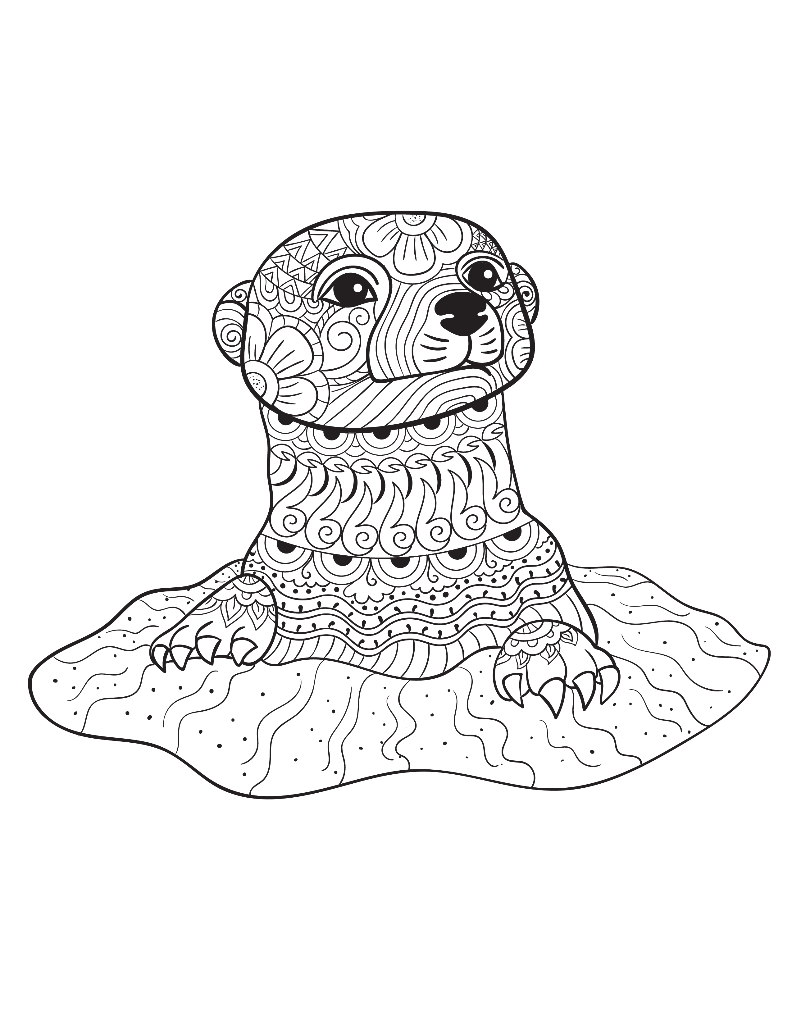 2550x3300 Best Of Animal Coloring Pages For Adults Gallery Printable