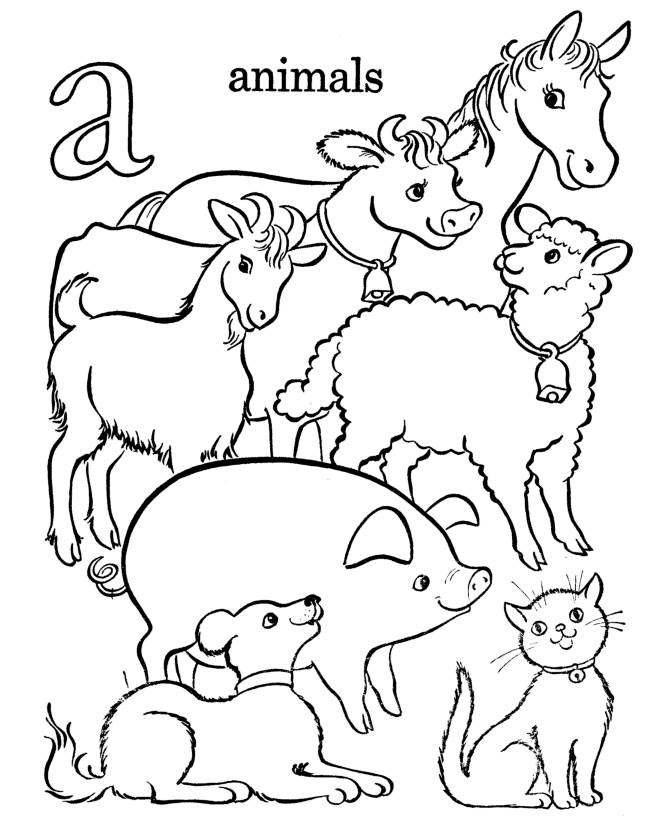 670x820 Farm Animals Coloring Pages