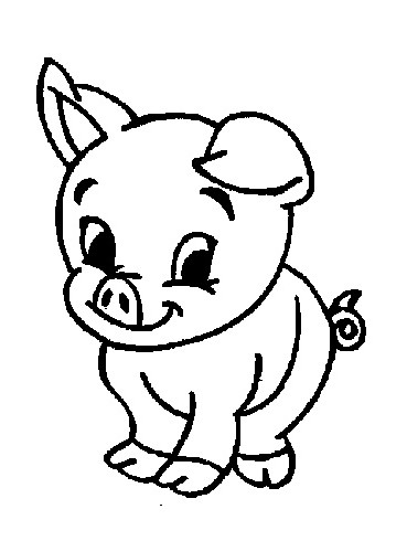 369x490 Farm Coloring Pages Baby Farm Animals Coloring Pages Kids