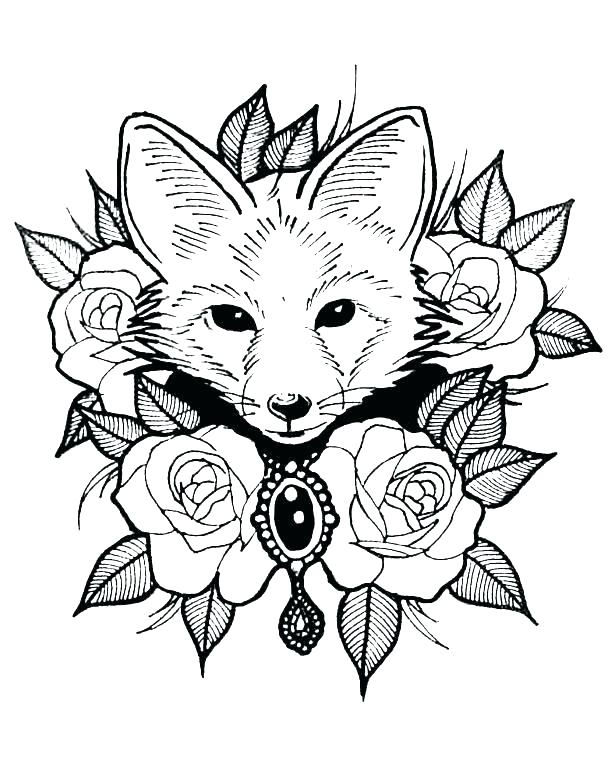 615x767 Coloring Pages Animals Realistic