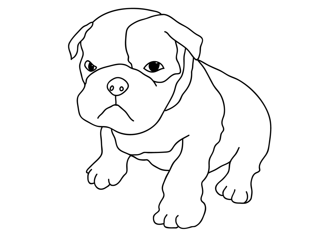 1024x768 Cute Dog Coloring Pages